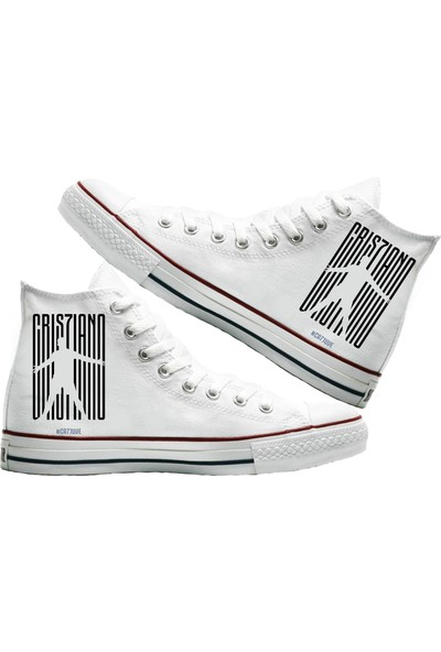 Art Fashion CR7 Baskılı Unisex Canvas Ayakkabı