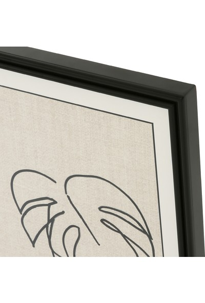 Glam Leafline Tablo Siyah 50 x 70 cm
