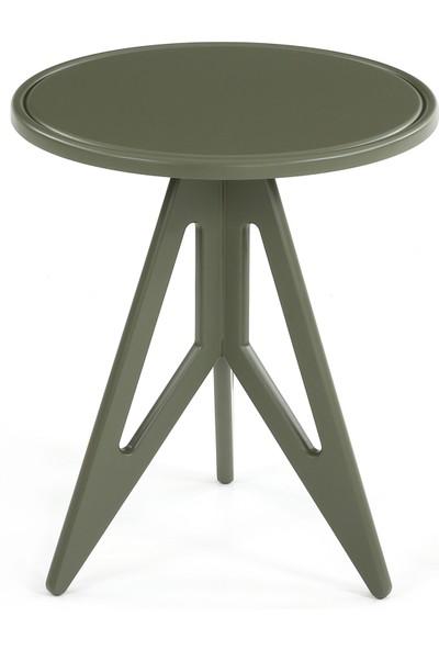 Glam Lante Yan Sehpa Olive Yeşili