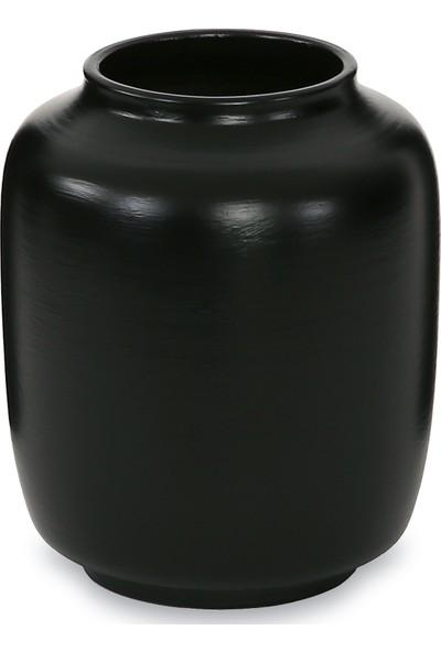 Glam Blend Seramik Vazo Mat Siyah