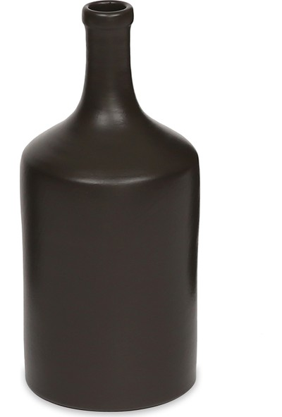 Glam Raw Seramik 2li Vazo Seti Mat Füme