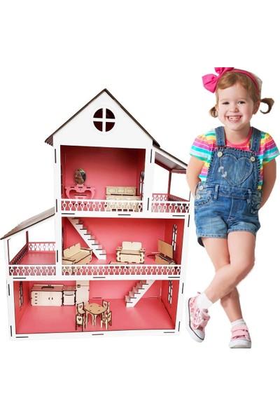 Woody Life Woodylife Ahşap Çocuk Oyun Evi Pembe Lol Barbie Miniş Uyumlu Oyuncak