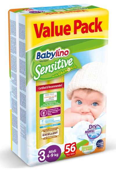 Babylino Sensitive 3 Beden Midi 56 Adet 4-9 kg