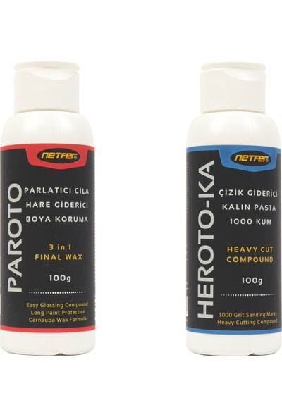 Netfer Paroto ve Heroto-Ka 2'li Kalın Pasta Cila Set - 2X100G