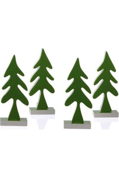 Philippi Çam Ağacı Dekor 4'lü Set 93523 S