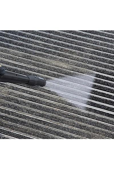 Sermat Alüminyum Çerçeveli Metal Halı Fitilli Kapı Paspası - 64 x 109 cm Gri