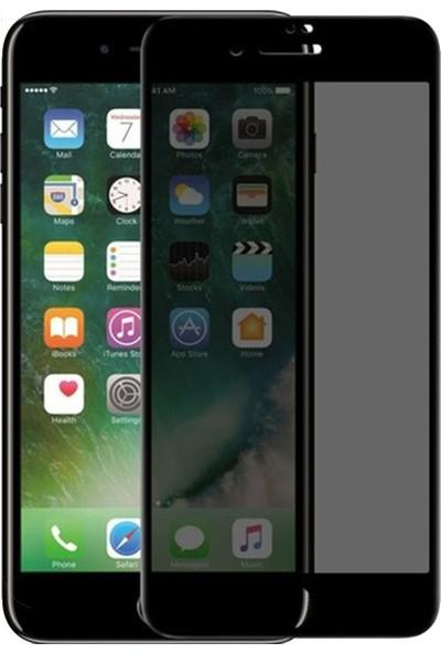 CoverZone Apple iPhone 8 Plus Ekran Koruyucu Privacy Gizlilik Filtreli Cam Siyah