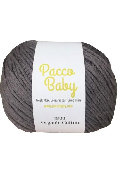 Pacco Baby Koyu GriS ertifikalı Pamuk El Örgü İpi1