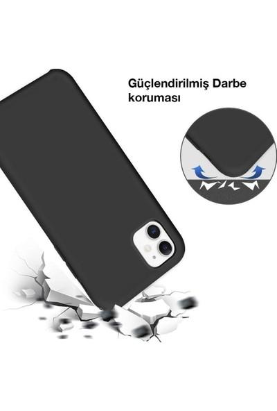Toucan Apple iPhone 11 Kılıf Liquid Silikon Siyah