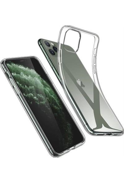 Toucan Apple iPhone 11 Pro Kılıf Esnek Silikon 4 Tarafı Tam Koruma Şeffaf