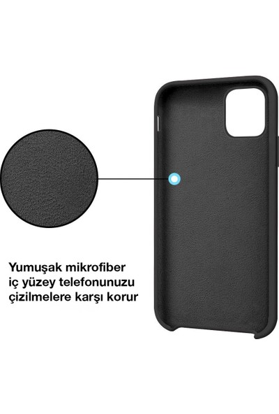Toucan Apple iPhone 11 Pro Kılıf Liquid Silikon Siyah