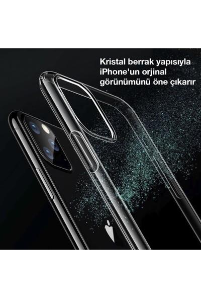 Toucan Apple iPhone 11 Pro MaX Kılıf Esnek Silikon 4 Tarafı Tam Koruma Şeffaf