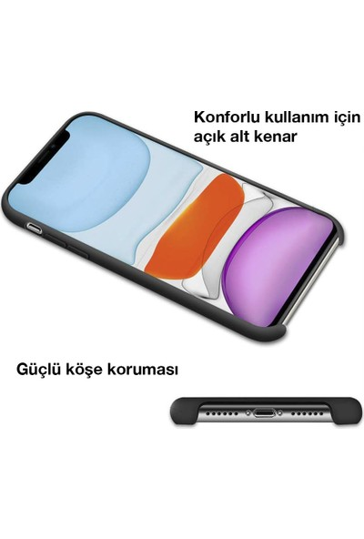 Toucan Apple iPhone 11 Pro MaX Kılıf Liquid Silikon Siyah