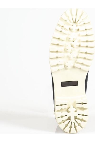 Ayakkabı Çarşı Lacivert Bağcıklı Hakiki Deri Erkek Bot BT121