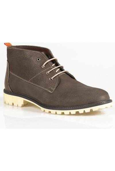Ayakkabı Çarşı Kum Bağcıklı Hakiki Deri Erkek Bot BT122