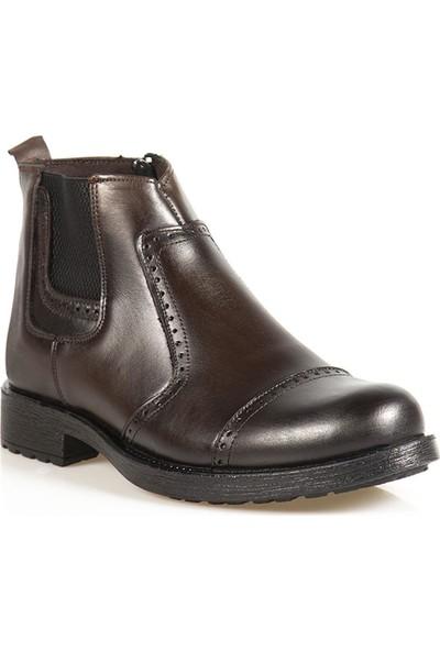 Ayakkabı Çarşı Günlük Kahverengi Hakiki Deri Erkek Bot BT161