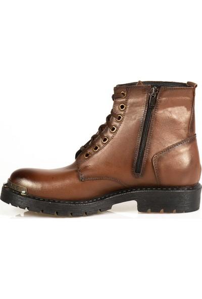Ayakkabı Çarşı Günlük Taba Hakiki Deri Erkek Bot BT198