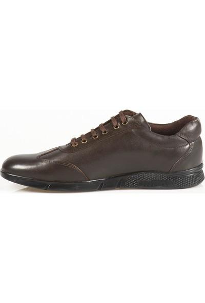 Ayakkabı Çarşı Günlük Bağcıklı Kahverengi Hakiki Deri Ayakkabı CNR130