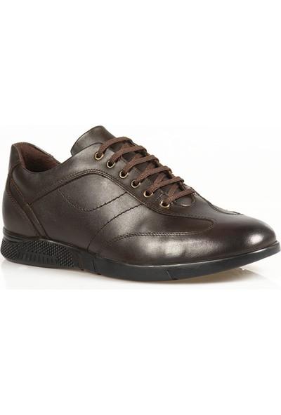 Ayakkabı Çarşı Günlük Bağcıklı Kahverengi Hakiki Deri Ayakkabı CNR148