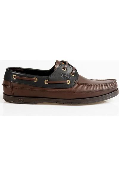 Ayakkabı Çarşı Günlük Kahve-Siyah Hakiki Deri Erkek Ayakkabı DX182