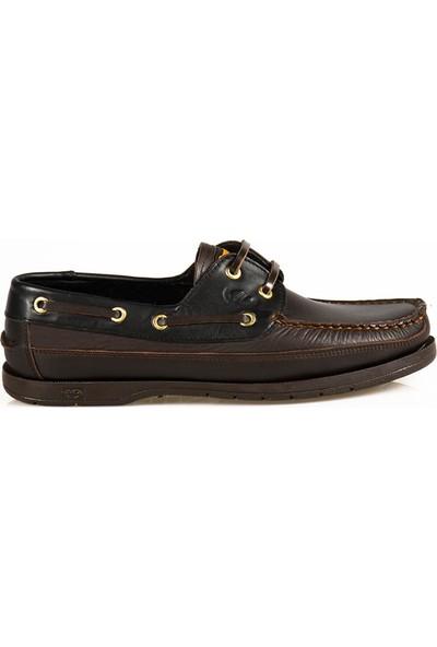 Ayakkabı Çarşı Günlük Kahve-Siyah Hakiki Deri Ayakkabı DX184