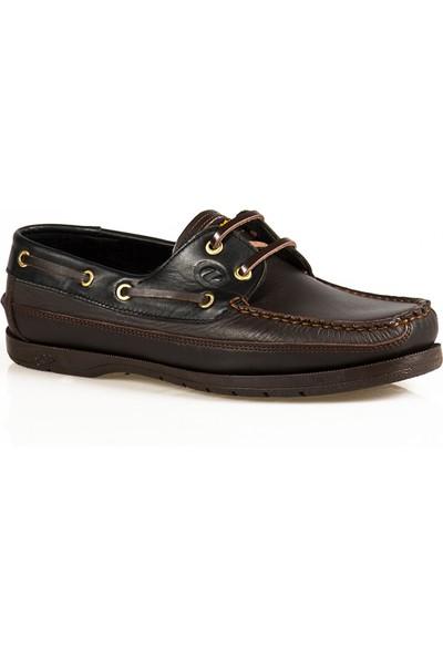 Ayakkabı Çarşı Günlük Kahve Büyük Beden Hakiki Deri Ayakkabı DX185