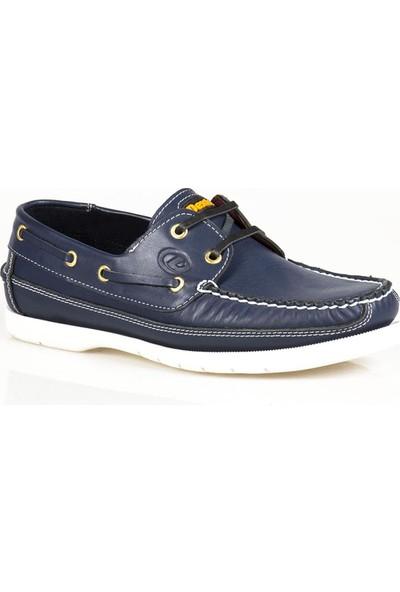 Ayakkabı Çarşı Günlük Mavi Hakiki Deri Erkek Ayakkabı DX187
