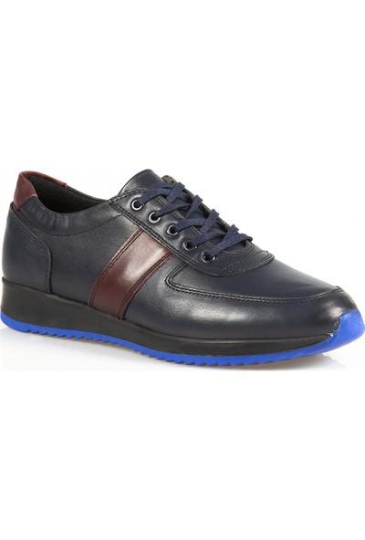 Ayakkabı Çarşı Günlük Bağcıklı Lacivert Hakiki Deri Ayakkabı LAST137