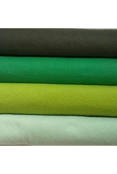 Yeşilli Tonlar Ince Keçe 4 Renk 50x50 cm Hobi Malzemesi