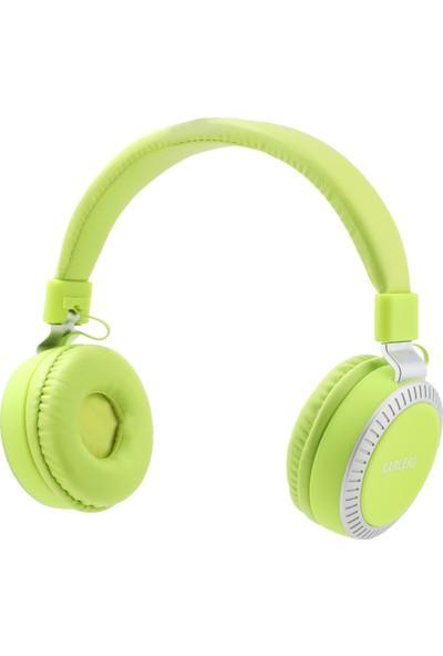 Karler Bass 380 Kablolu Mikrofonlu Kulaküstü Kulaklık Yeşil