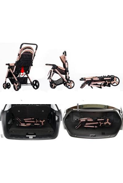 Willbabydan Çift Yönlü Bebek Arabası Model 2305 Renk Gold
