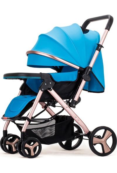 Willbabydan Çift Yönlü Bebek Arabası Model 2305 Renk Mavi