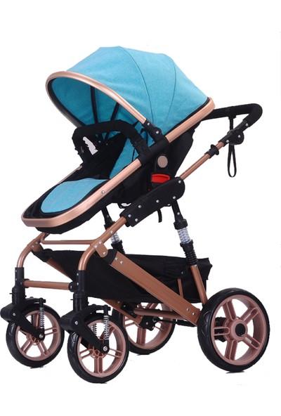 Willbabydan Travel Sistem Bebek Arabası Model 1509Z Renk Mavi