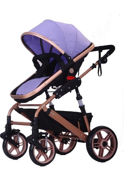 Willbabydan Travel Sistem Bebek Arabası Model 1509Z Renk Mor