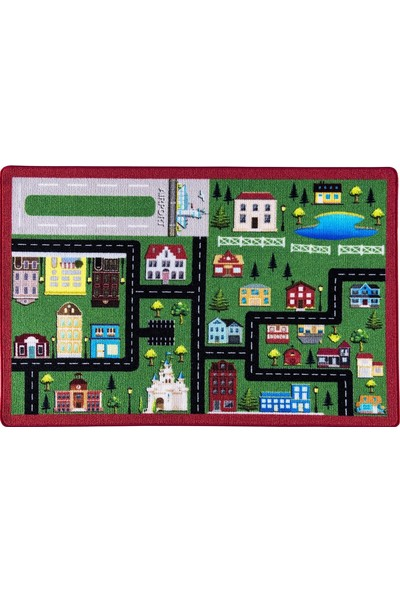 Confetti Çocuk Halısı City Bukle Yeşil 100 x 150 cm