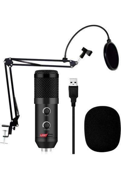Lastvoice BM300 (BM800V) Usb Tak Çalıştır Mikrofon + Pop Filtre + Standı