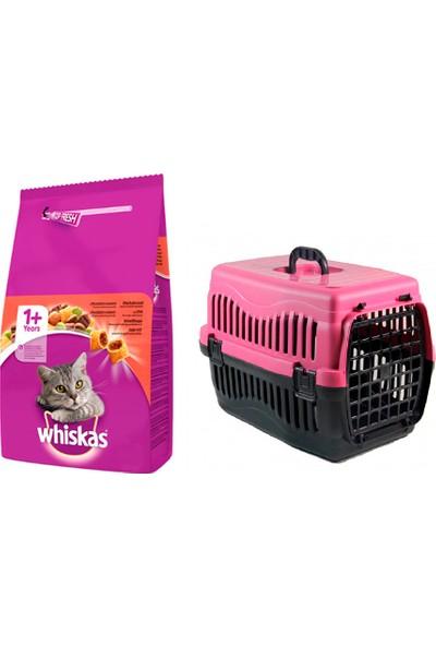 Whiskas Adult Yetişkin Sığır Etli Beef Kedi Maması 1,4 kg + Pet Style Taşıma Çantası 49 cm Pembe