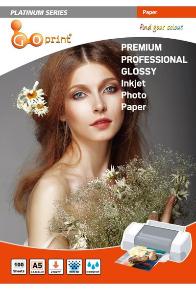 Goprint Platınum Serisi Premium Ultra Parlak A5 15 x 21cm Fotoğraf Kağıdı 270 gr 100 Yaprak