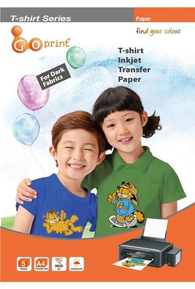 Goprınt Koyu Zemin Pamuklu Tshirt Transfer Baskı Kağıdı - A4 5 Adet