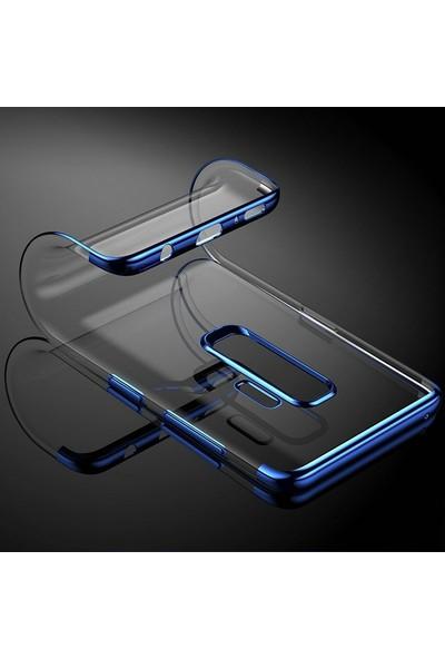 Gpack Huawei P Smart 2019 Kılıf Colored Silicone Yumuşak + Nano Ekran Koruyucu + Kalem Mavi