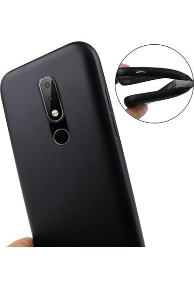 Gpack Nokia 7.1 Kılıfları Kılıf Premier Silikon Koruma + Nano Ekran Koruyucu + Kalem Siyah