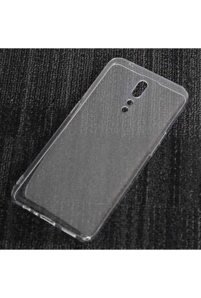 Gpack Oppo Reno Z Kılıf Süper Silikon Yumuşak Arka Koruma + Nano Ekran Koruyucu + Kalem Şeffaf