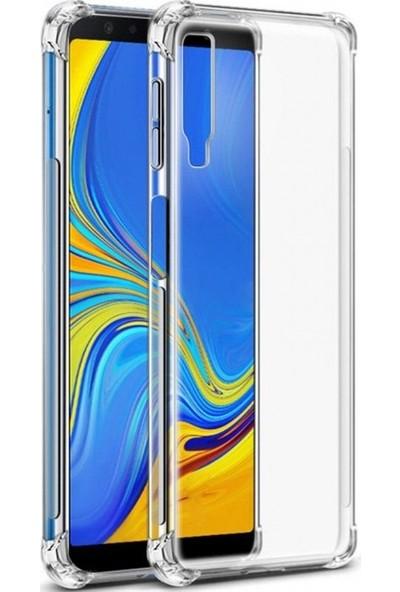 Gpack Samsung Galaxy A9 2018 Kılıf AntiShock Ultra Koruma + Nano Ekran Koruyucu + Kalem Şeffaf