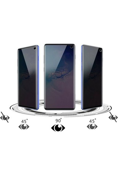 Gpack Samsung Galaxy S10 Plus Privacy Gizlilik Filtreli Hayalet Cam Siyah