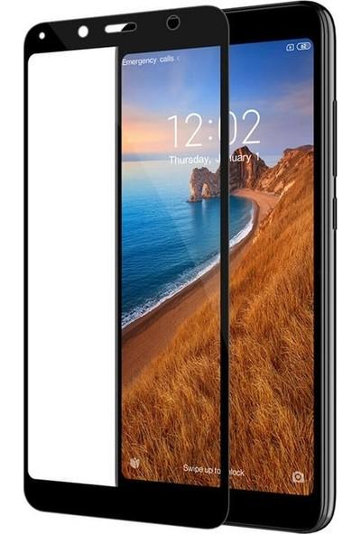 Gpack Xiaomi Redmi 7A Full Kapatan Renkli Cam Tam Koruma Siyah