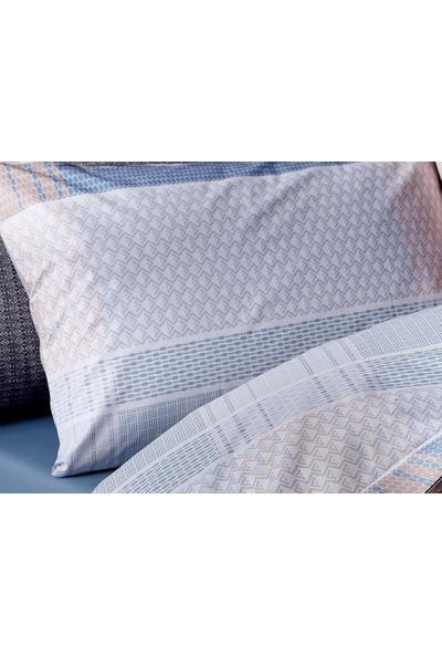 English Home Urban Check Pamuklu 2'Li Yastık Kılıfı 50X70 Cm Mavi