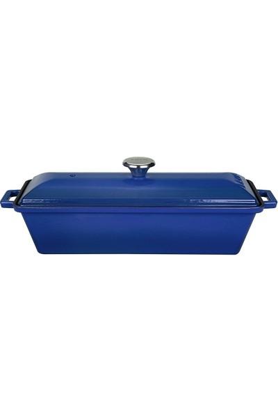Lava Döküm Ekmek Kabı 11 x 29 cm - Mavi