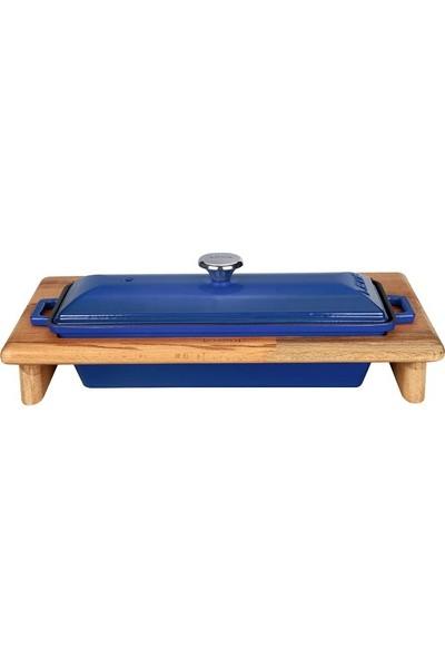 Lava Döküm Ekmek Kabı Standı - Mavi