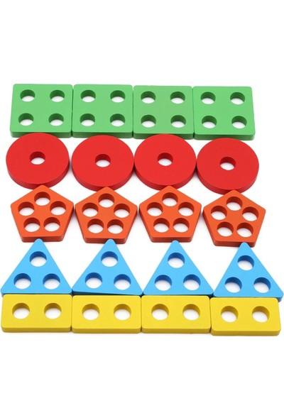 Geometrik Şekiller Tak Çıkar 5'li Renkli