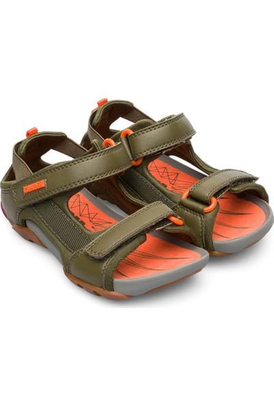 Camper Ous Çocuk Sandalet Koyu Yeşil Erkek Çocuk Sandalet